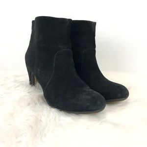 Kenneth Cole Black Suede Leather Heeled Booties